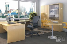 office manager desk with round meeting table