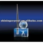 3d laser engraved crystal globe pen holder