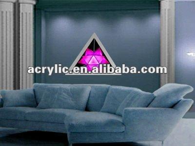يعلق على الحائط الاكريليك إطار الصورة المضيئة الزخرفية لتزيين المنزل