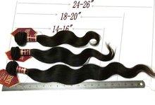 AAAA 24''Body Wave Virgin Peruvian Hair Weaving