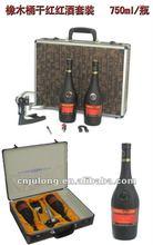 wooden wine bottle case for two bottles of 750ml wine.