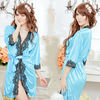 Sexy Lingerie New Silk Robe Lace Rim Dress+G String Set Sexy Sleepwear, Sexy Dress, Sexy Uniform, Sexy Underwear W1340