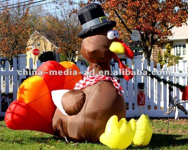 Custom advertising inflatable turkey model