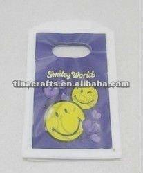 Simile face plastic bag