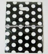 Round dot pattern plastic bag
