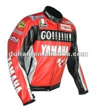 Duhan D-046 red leather jacket motorcycle