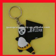 fashion soft pvc panda keyring key chain customized keychain toy