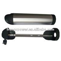 48v 10ah lipo battery for e-bike pack in water bottle case with BMS
