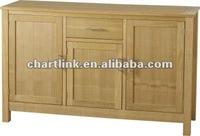 Wooden Natural Oak Sideboard