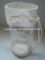 transparent pvc washing bag with drawstring