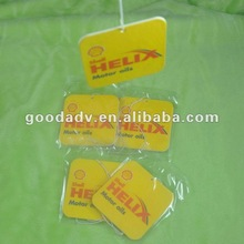 2012 New arrival 100% nontoxic promotional gifts paper air freshener