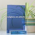 Azul escuro matizado folha do espelho