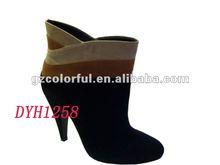 2012 New Style High Heel Black Half Boots