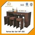 café bar rattan móveis cadeira e mesa
