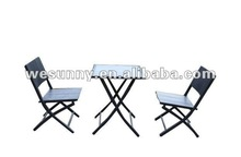 outdoor patio furniture polywood fold table and chair