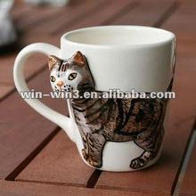 3d ceramic animal pattern coffee mug