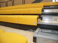 indoor fire-resistant retractable folding chair,bleacher arena retractable seating system, telescopic tribune,bleacher