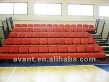 anti-aging,anti-fire retractable permanent folding chair,arena telescopic seating,retractable grandstand for multi-purpose use