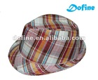 polyester cotton fabric fedora hat