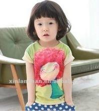 carton hot children girl t-shirt,100% cotton