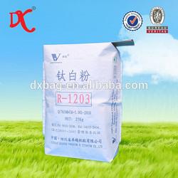 Titanium oxide bag kraft paper block bottom valve bag 25kg