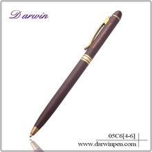 Top quality and business type slim metal pen with logo for promotion