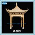 decorativi da giardino marmo giallo gazebo in stile cinese