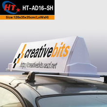 Bright led advertising taxi top light box