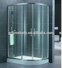 Love-bath frame glass shower screen