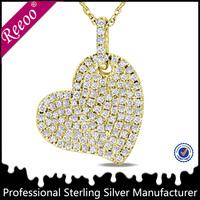 18K gold plating heart pendant