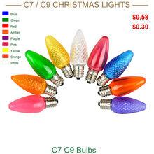 New design Smooth LED C7 Multicolor christmas lightings bulb wholesale