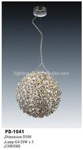 Brilhante forma de bola lâmpada / venda quente iluminação de teto PD-1041