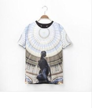 2014 The Most Fashionable Godness Church Pattern 3D print t-shirt