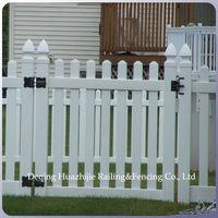 white vinyl grass fence gates
