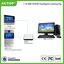 High quality factory digital home, home automation TCP/IP multi apartment video intercom system with Android system