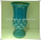 green lotus garden ceramic flower pot painting designs