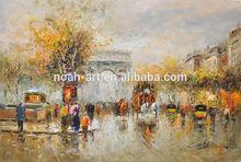 Paris street scene oil painting Triumphal arch