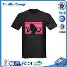 2015 sound activated led t shirt wholesale