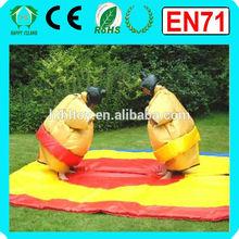 HI CE/EN14960 inflatable sports games/ sumo suits sumo wrestling, sumo suit foam