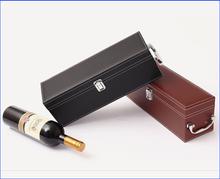 Custom pu leather wine box holder for 1bottle D06-151105