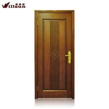 6 panel latest design wooden doors natural wood veneer door skin