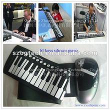 electronic keyboard piano midi 61 key/piano flexible keyboard/portable electronic piano keyboard
