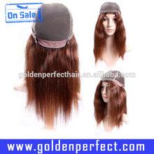 Cheap Glitter Charming Wave Highlights Red Human Hair Wigs Bangs