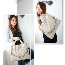 Fashion PU Leather Weaving Chain Handbag Korean Woven Lady Hobo PU leather bag Popular handbag Shoulder Messenger Bags H9564