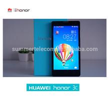 Original Huawei Honor 3C Phone 2GB RAM MTK6582 Quad Core Huawei 3C Honor WCDMA 3G Android Smart Mobile Phone 5 Inch Smartphone