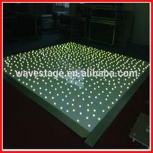 WLK-3-1 Led twinkling black white led pvc stage floor