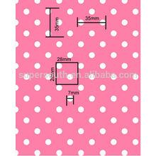 2014 summer sample white dots in pink design flannel fleece blanket in soft quality