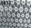 8837 china black lace snow flake lace fabric