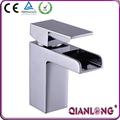 Robinets de lavabo pour cascade de salle de bains en laiton chrome