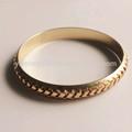 Mais novo design italiano 18 k banhado a ouro jóias sem pedras pulseira projeta